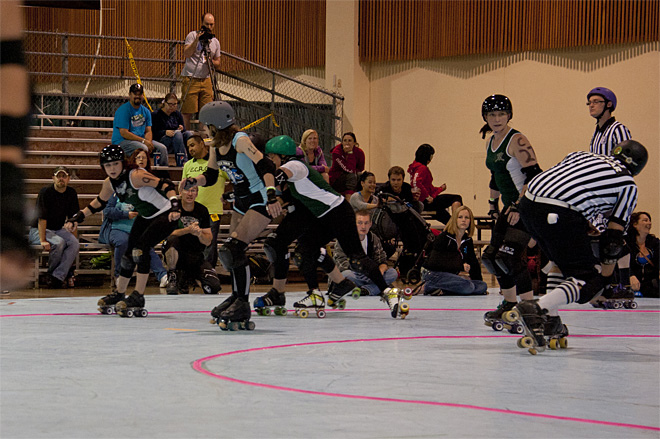 The Big O Derby - Sick Town Derby Dames vs Slaughter County Roller Vixens 38 _Friday 5-17
