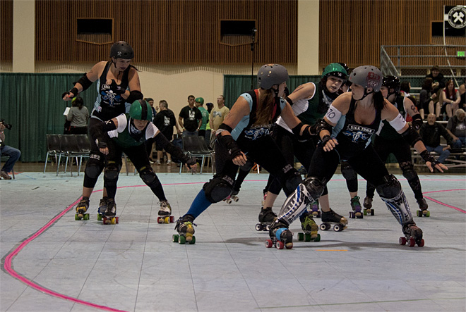 The Big O Derby - Sick Town Derby Dames vs Slaughter County Roller Vixens 41 _Friday 5-17