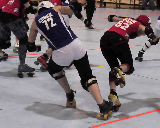 The Lane County Concussion and Emerald City Roller Girls host The Big O -10- Photo by Noah Gurevich_Oregon NewsLab