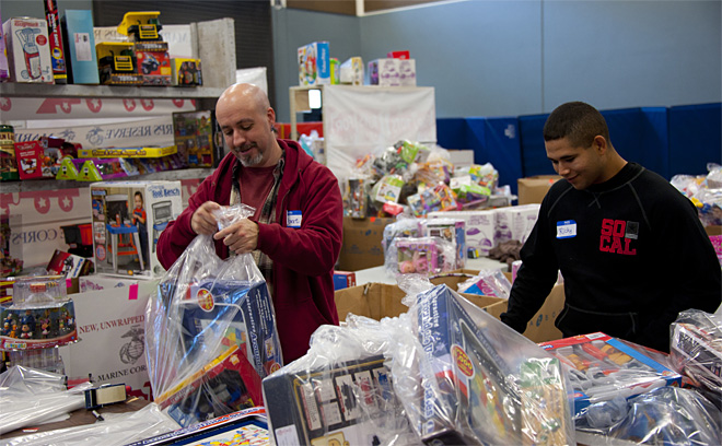 Distributing Toys For Tots: 'It is a lot of work, but it's worth it'