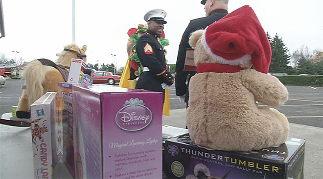 The community brings Christmas cheer to families in need