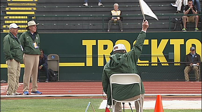 Track meet volunteer at Hayward Field June 2014 (2)
