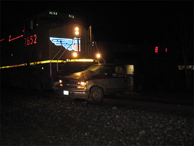 Train collides with truck April 1 (2)