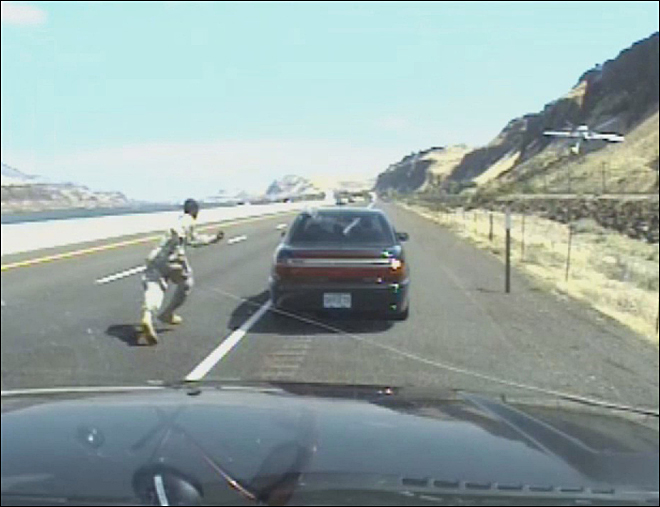 Still Image from Video - Gun Battle Between Trooper and Suspect