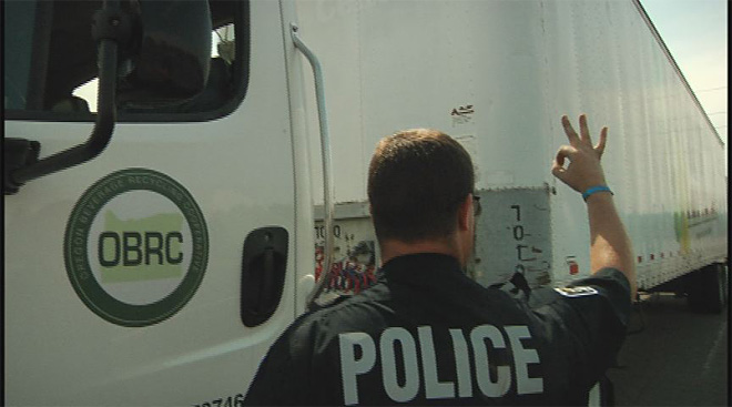 Police check trucks for safety violations