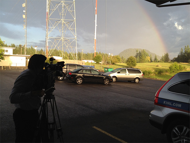Ty Steele shooting stormy weather - KVAL News
