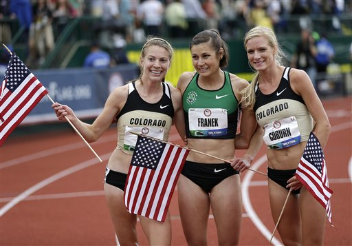 Coburn wins 2nd straight title in the steeplechase