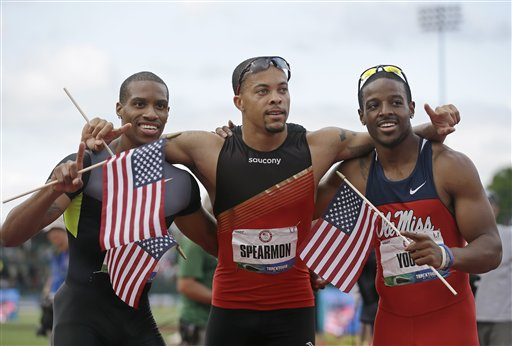 Spearmon wins 200 at US track trials