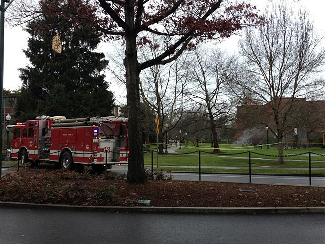 Underground explosions on UO campus January 7