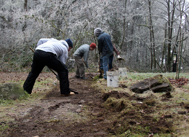 Volunteers help maintain Hendricks Park (13)