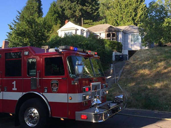 Neighbor girls and passerby save house from fire