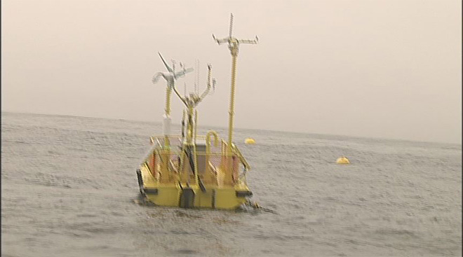 Wave energy test off Oregon Coast