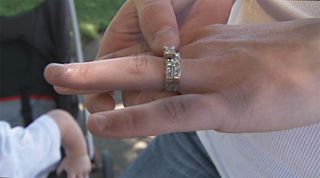 Wedding ring left behind at garage sale