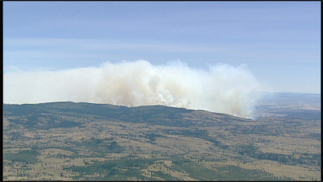 Wildfire near Warm Springs