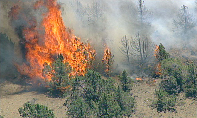 Fire grows near Warm Springs; 40 homes evacuated