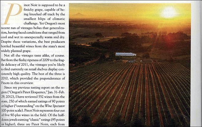 High-profile magazine shines spotlight on Oregon wines