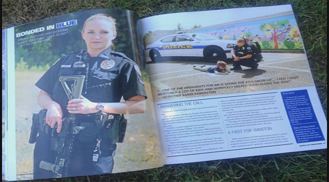 Winston cop makes national mag (1)