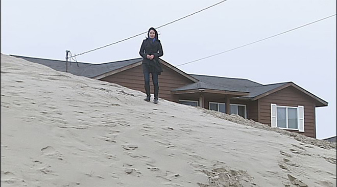 Winter storms bury Waldport homes in sand (7)