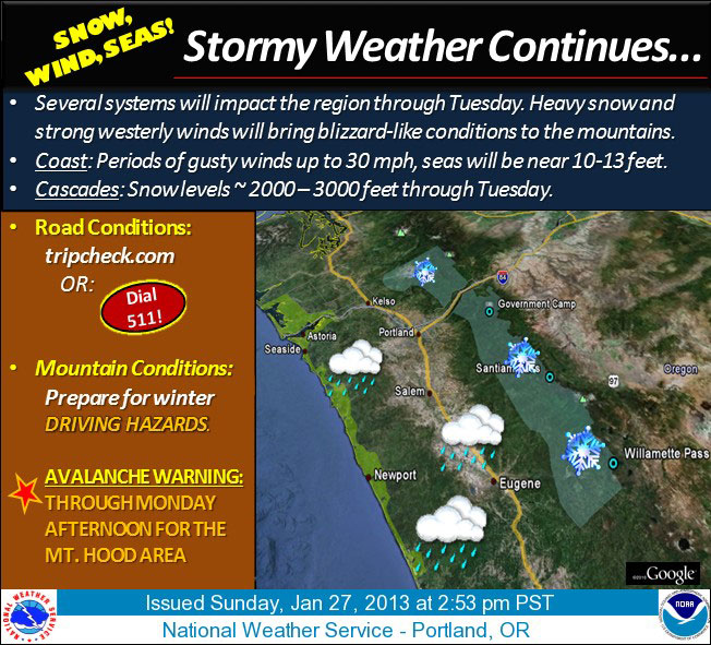 Winter weather advisory in effect through Tuesday