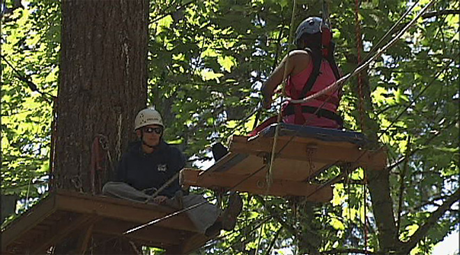 Women from around the world tackle Spencer Butte Challenge Course