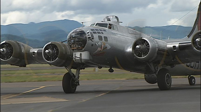 Up in the air: World War II B-17 visits Eugene