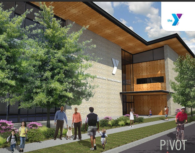 YMCA Civic proposal artist rendering by Pivot Architecture