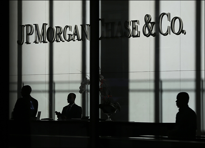 JPMorgan's second-quarter net income falls