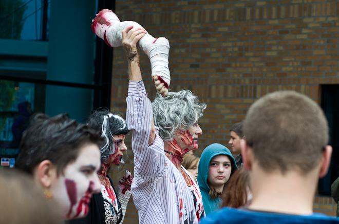 Portland Zombie Walk and Thrill The World Dance 2012