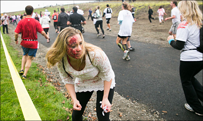 'We hate running but we figured we could run from zombies'