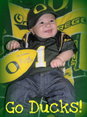 4 months old & already the Ducks #1 fan!