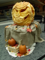Carved Pumpkin At The Mall