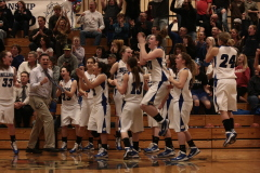 Sutherlin Girls win nail biter by one.