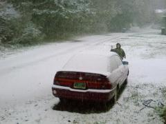 SNOW IN COOS BAY!