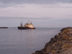 Dredger on the Suislaw River