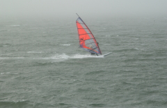 Wind surfing on the Siuslaw River