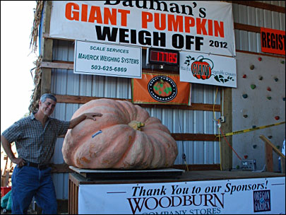 Giant pumpkin breaks Oregon record