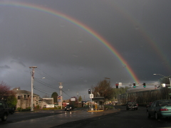 Double Rainbow over East Eugene