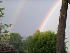Double rainbow in Springfield