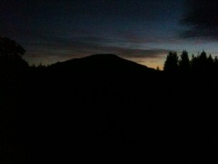 Spencers Butte at dusk
