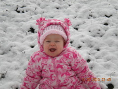 Rylee's 1st time in the snow