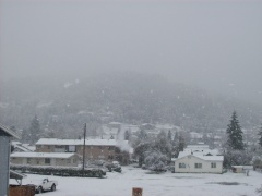 Snow in Roseburg