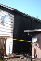 double duplex fire in Corvallis, oregon