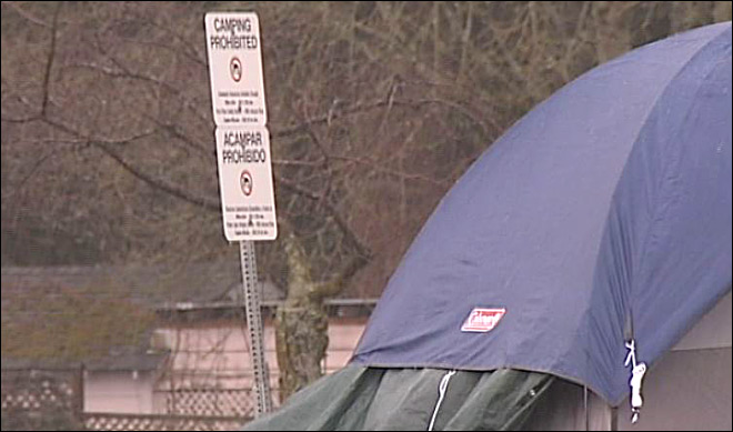 Campers pitch tents at old S.L.E.E.P.S. site: 'It's a complex issue'