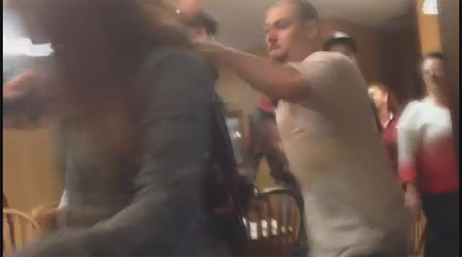 Caught on camera: Fight breaks out in restaurant