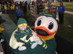 Go Ducks!  Small but a big fan at heart.