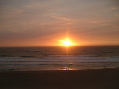 Sunset in Lincoln City