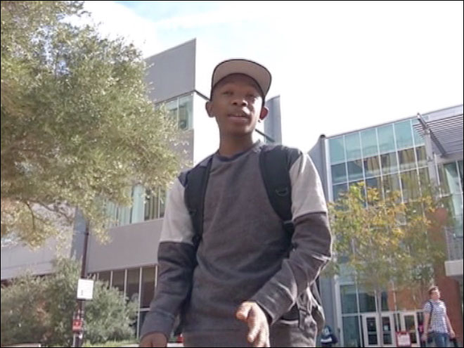 14-year-old adjusts to life as a college freshman