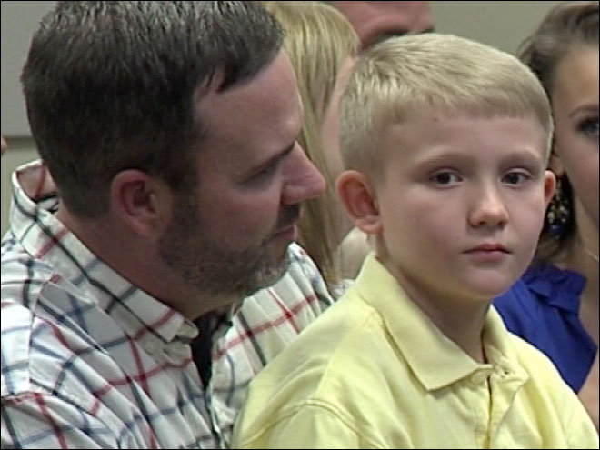 9-year-old saves dad's life