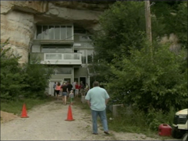 Unique cave home up for sale
