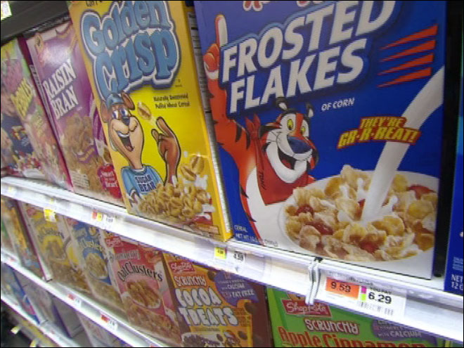 Are cereal box characters eyeing your kids?